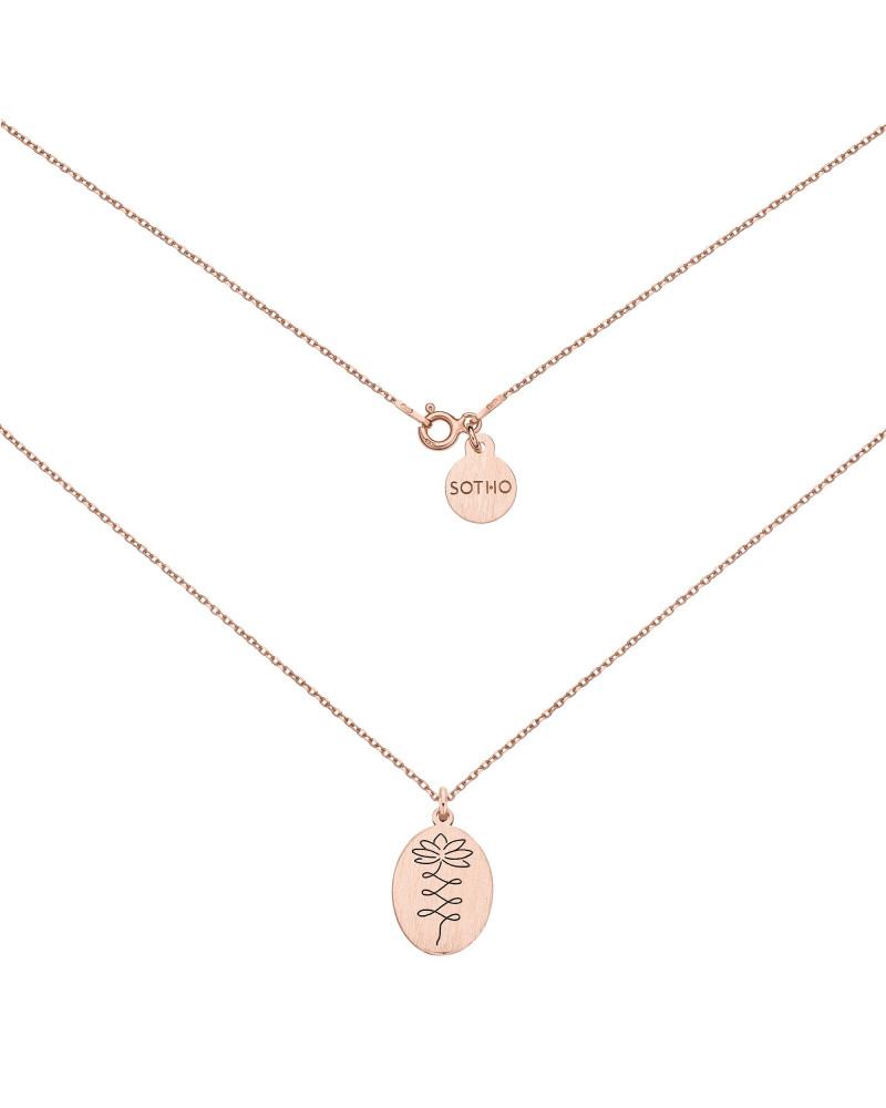 Medalion z różowego złota z kwiatem lotosu