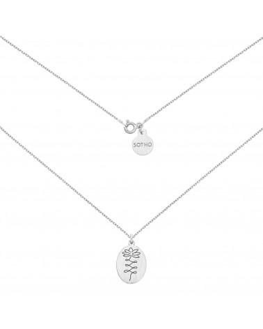 Srebrny medalion z kwiatem lotosu