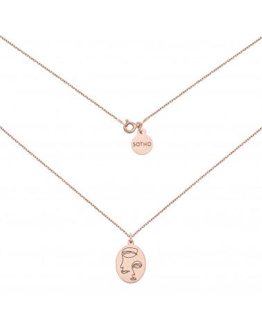 Medalion z różowego złota Face N°7