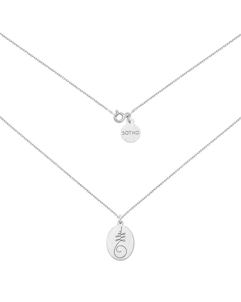 Srebrny medalion z symbolem Unalome