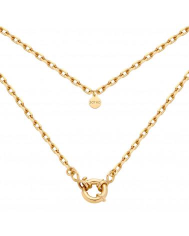Złoty łańcuch z ozdobnym zapięciem