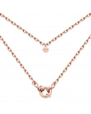 Łańcuch z różowego złota z ozdobnym zapięciem
