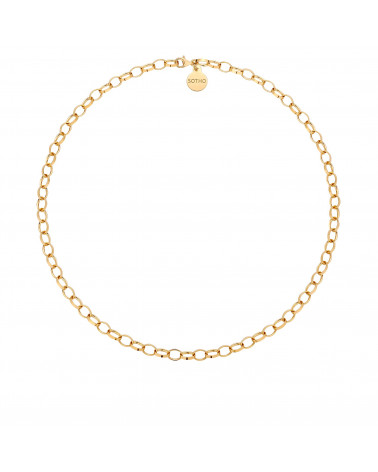 Złoty masywny naszyjnik