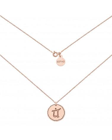 Medalion z różowego złota z symbolem miłości