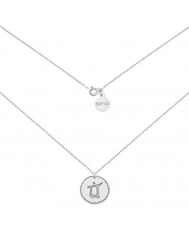 Srebrny medalion z symbolem miłości