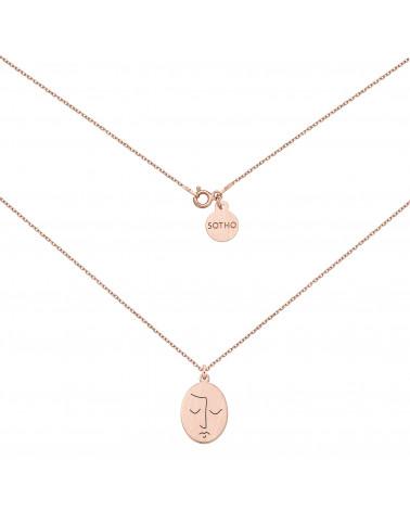 Medalion z różowego złota Face N°9