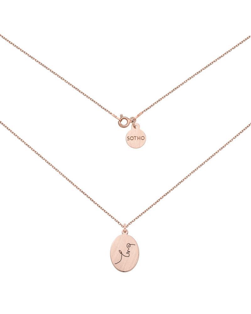 Medalion z różowego złota Face N°11