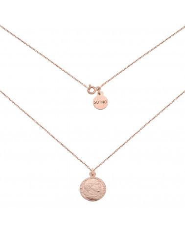 Naszyjnik z różowego złota z monetą