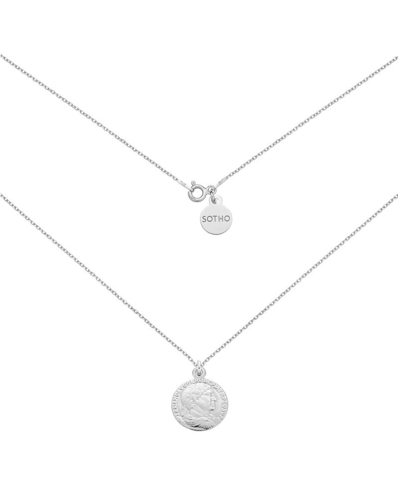 Srebrny naszyjnik z monetą