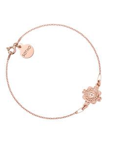 Naszyjnik z rozetą z różowego złota