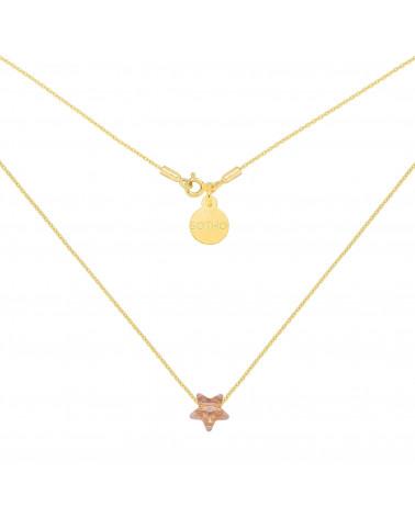 Złoty naszyjnik ze złotą kryształową gwiazdką SWAROVSKI® CRYSTAL