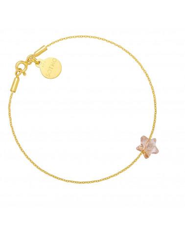 Złota bransoletka ze złotą kryształową gwiazdką SWAROVSKI® CRYSTAL