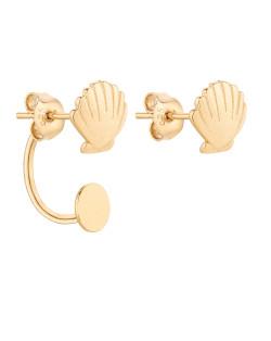 Kolczyki oponki z różowego złota