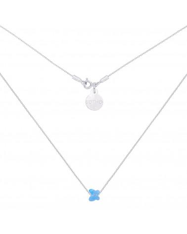 Srebrny naszyjnik zdobiony niebieskim motylkiem SWAROVSKI® CRYSTAL