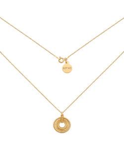 Naszyjnik z różowego złota z medalikiem i krzyżykiem