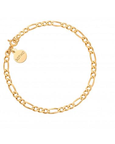 Złota łańcuchowa bransoletka