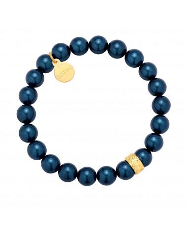 Morska bransoletka perły SWAROVSKI® CRYSTAL ze złotą przekłądką