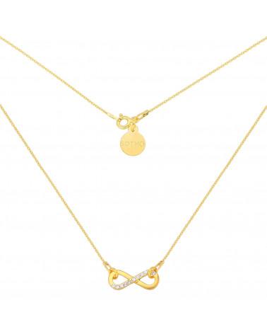 Złoty naszyjnik zdobiony nieskończonością z kryształkami SWAROVSKI® CRYSTAL