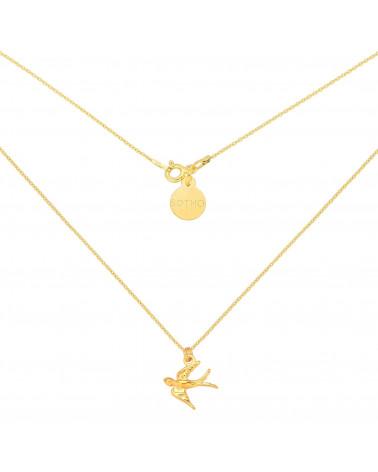 Złoty łańcuszek z jaskółką