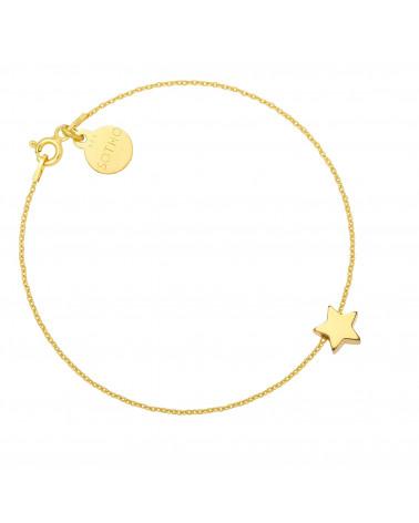 Złota bransoletka z delikatną gwiazdką