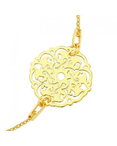 Złote kolczyki krzyżyki z różowego złota