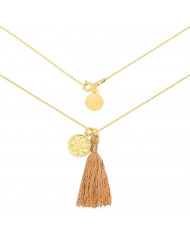 Naszyjnik z małą karmą z różowego złota