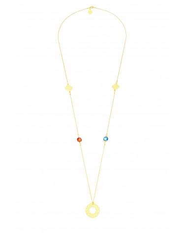 Długi naszyjnik z arabskimi rozetami i kryształami SWAROVSKI® CRYSTAL