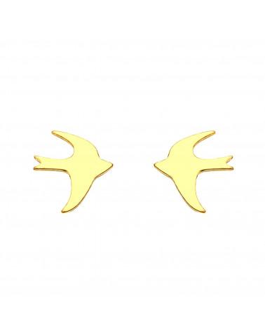 Złote kolczyki jaskółki