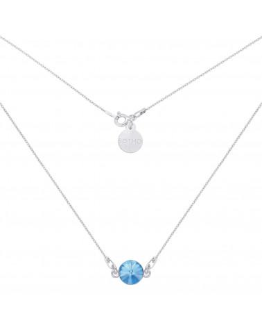 Srebrny naszyjnik z niebieskim kryształem SWAROVSKI® CRYSTAL