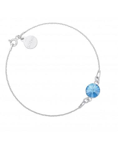 Srebrna bransoletka z jasnoniebieskim kryształem SWAROVSKI® CRYSTAL