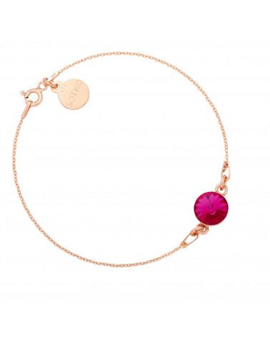 Bransoletka z różowego złota z kryształem SWAROVSKI® CRYSTAL