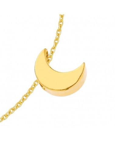Złota bransoletka z księżycem