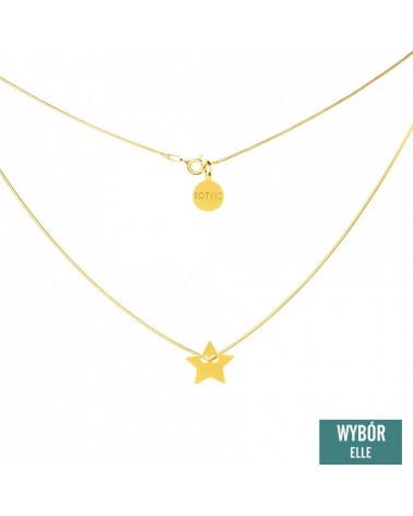 Złoty naszyjnik modowy symbol gwiazdka gwiazda łańcuszek żmijka