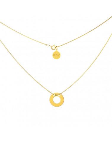 Złoty minimalistyczny naszyjnik KARMA