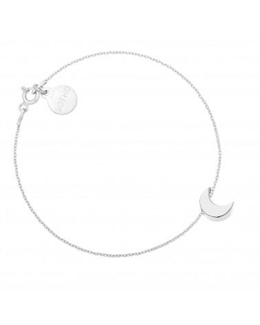 Srebrna bransoletka z księżycem