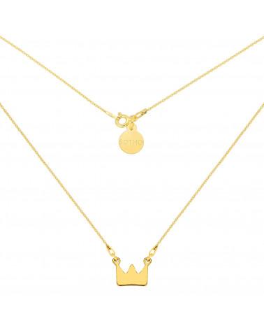 Złoty naszyjnik z koroną