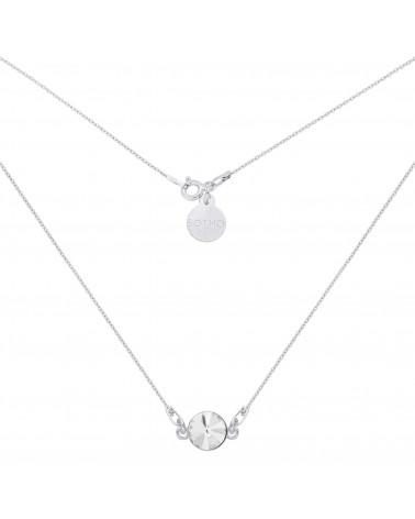 Srebrny naszyjnik z bezbarwnym kryształem SWAROVSKI® CRYSTAL