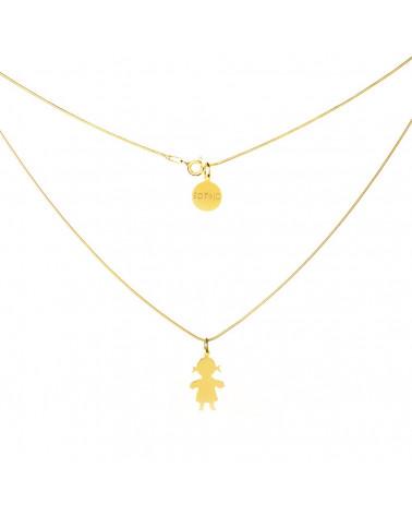 Złoty naszyjnik modowy dziewczynka łańcuszek żmijka
