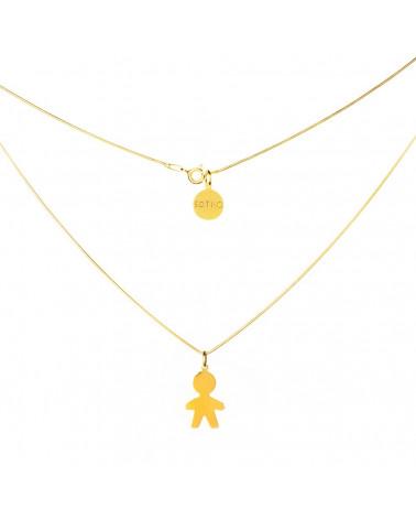 Złoty modowy naszyjnik chłopiec łańcuszek żmijka