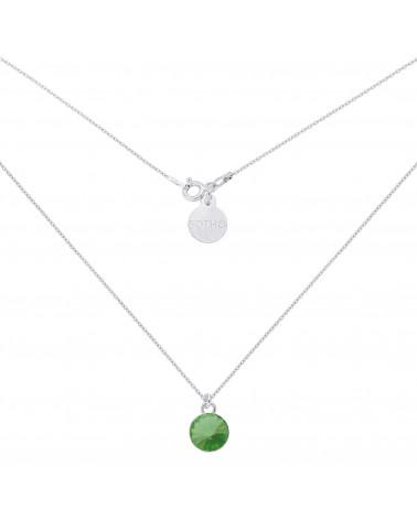 Srebrny naszyjnik z zielonym kryształem SWAROVSKI® CRYSTAL