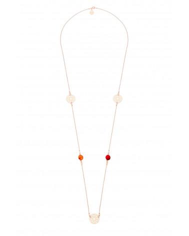 Długi naszyjnik z arabskimi rozetami i kolorowymi kryształami SWAROVSKI® CRYSTAL
