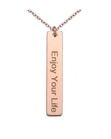 Naszyjnik z różowego złota Enjoy Your Life