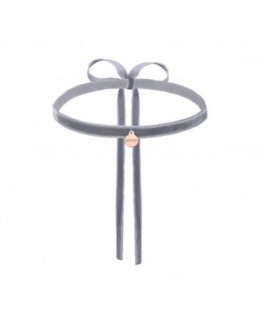 Ciemno różowa bransoletka ze srebrnym serduszkiem