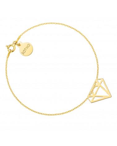 Złota bransoletka z diamentem