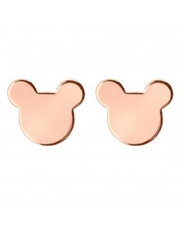 Kolczyki myszki z różowego złota