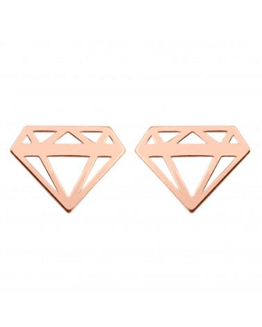 Kolczyki diamenty z różowego złota