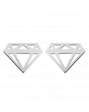 Srebrne kolczyki diamenty