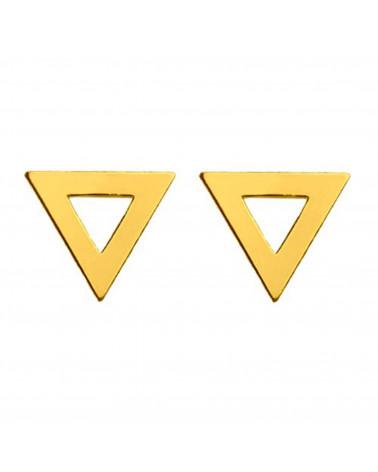 Złote kolczyki trójkaty