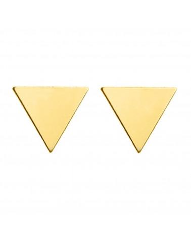 Złote kolczyki pełne trójkąty