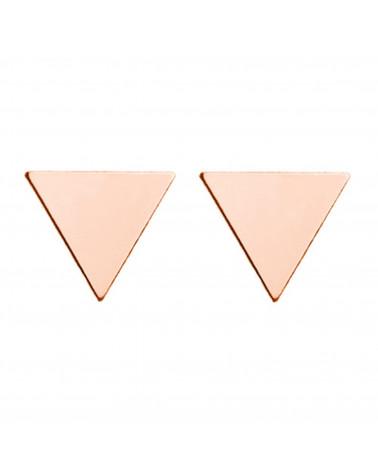 Kolczyki pełne trójkąty z różowego złota